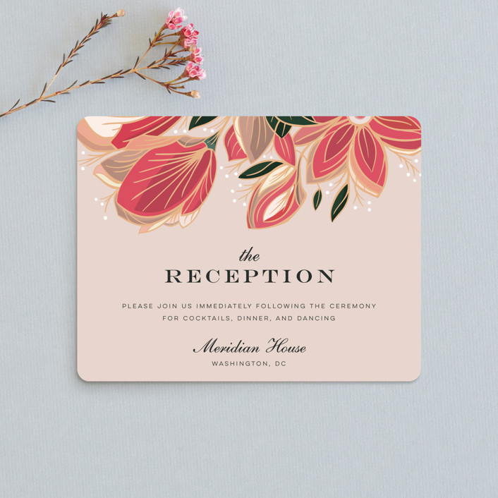 """Sawyer"" - Reception Cards in Cloisonne by Melanie Kosuge."