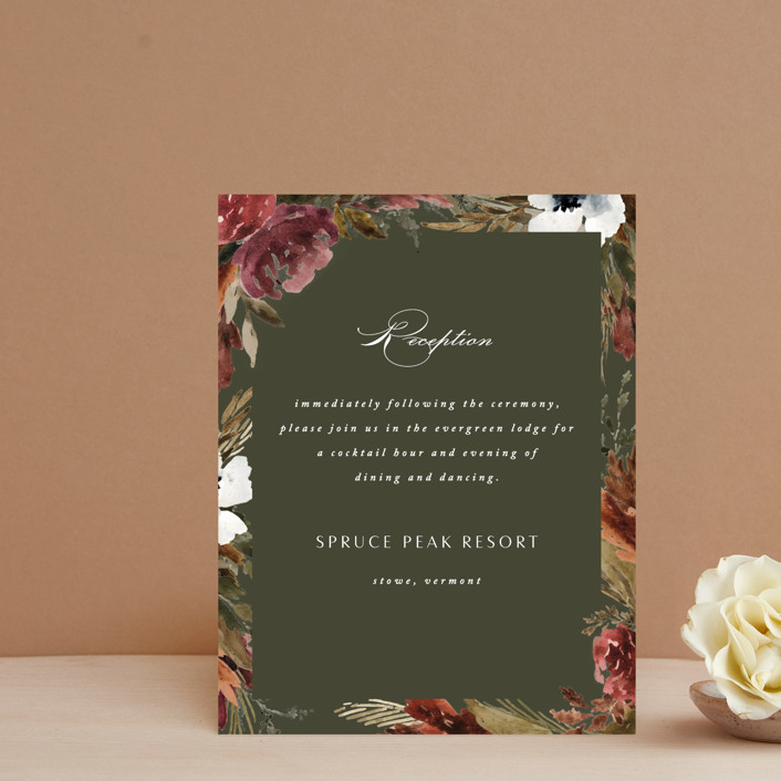 """""""poetique"""" - Reception Cards in Autumn by Kate Ahn."""