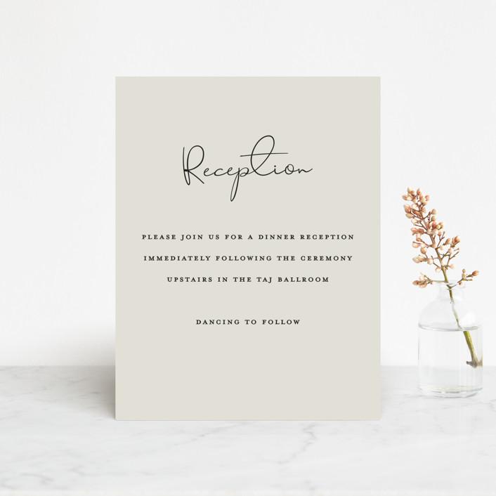 """sweet sweet elegance"" - Reception Cards in Dutch Cream by frances."