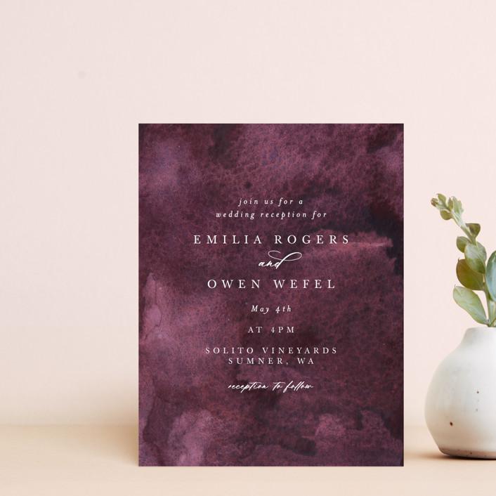 """""""iliya"""" - Reception Cards in Bordeaux by Itsy Belle Studio."""