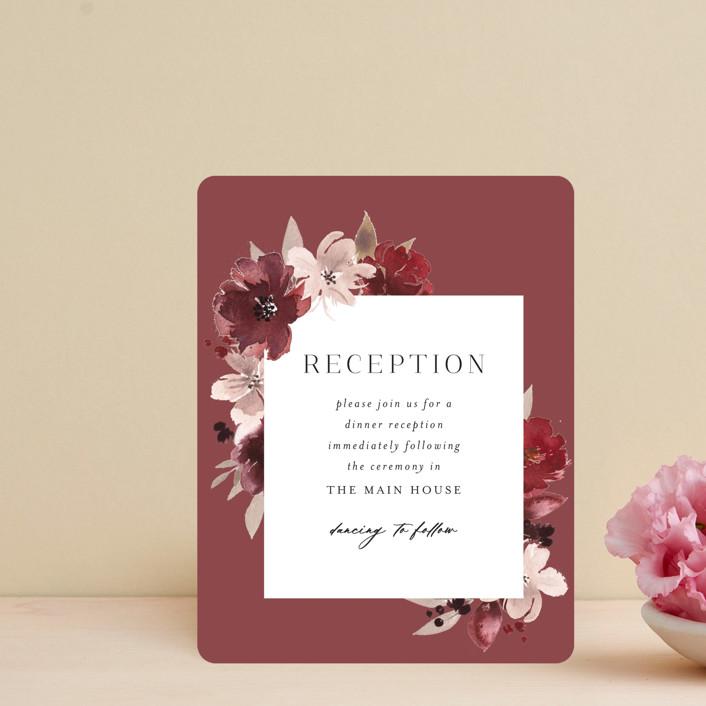 """Emyn"" - Reception Cards in Burgundy by Itsy Belle Studio."