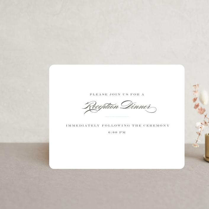 """""""Charming Go Lightly"""" - Reception Cards in Crisp Black by danielleb."""