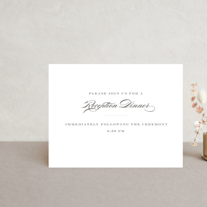"""Charming Go Lightly"" - Reception Cards in Sky Blue by danielleb."