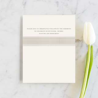 Modern Crest Reception Cards