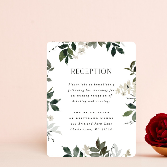 """""""Grove"""" - Reception Cards in Meadow by Everett Paper Goods."""