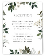 This is a green reception card by Everett Paper Goods called Grove with standard printing on signature in standard.