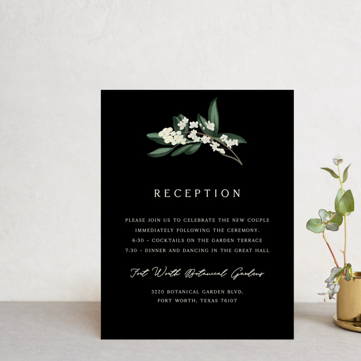 """""""Meander"""" - Reception Cards in Obsidian by Kaydi Bishop."""
