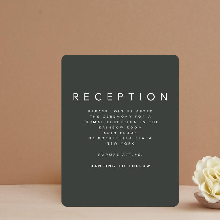"""Midtown"" - Modern Reception Cards in Stone by Caitlin Considine."