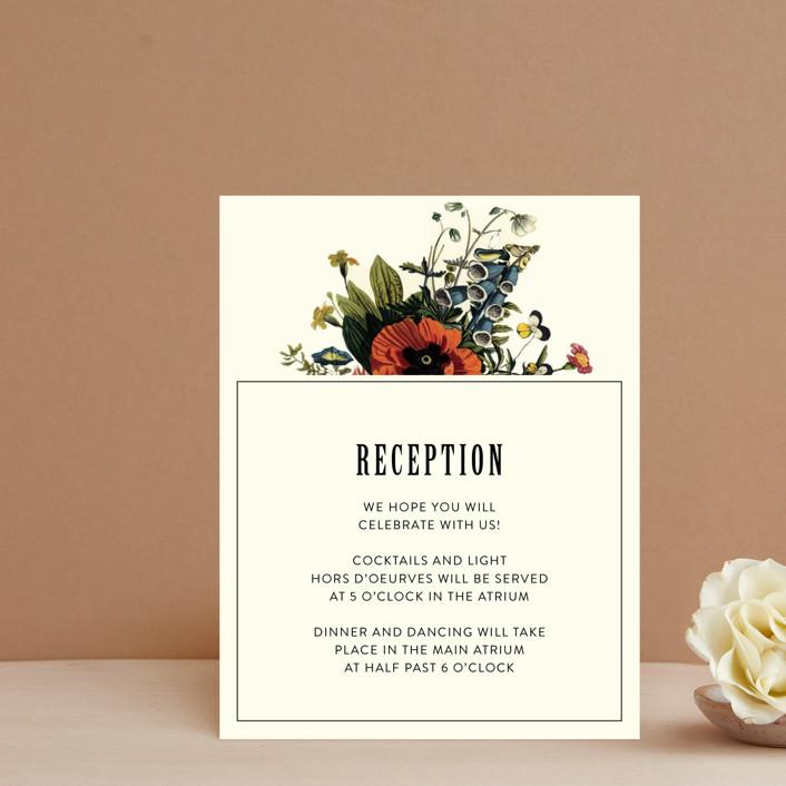 """""""Vintage Garden Invite"""" - Reception Cards in Vintage Beige by Alisa Wismer."""