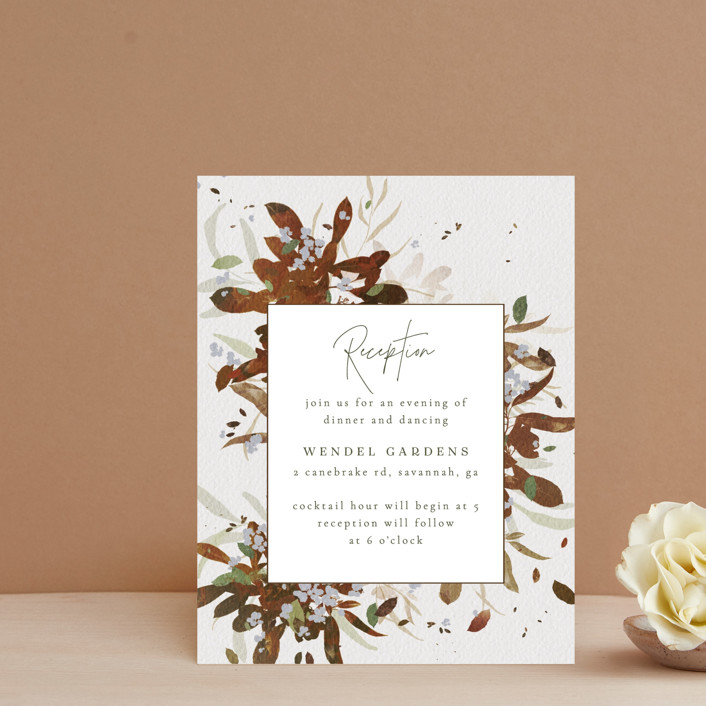 """Fall Flurry"" - Bohemian Reception Cards in Fall by Grace Kreinbrink."
