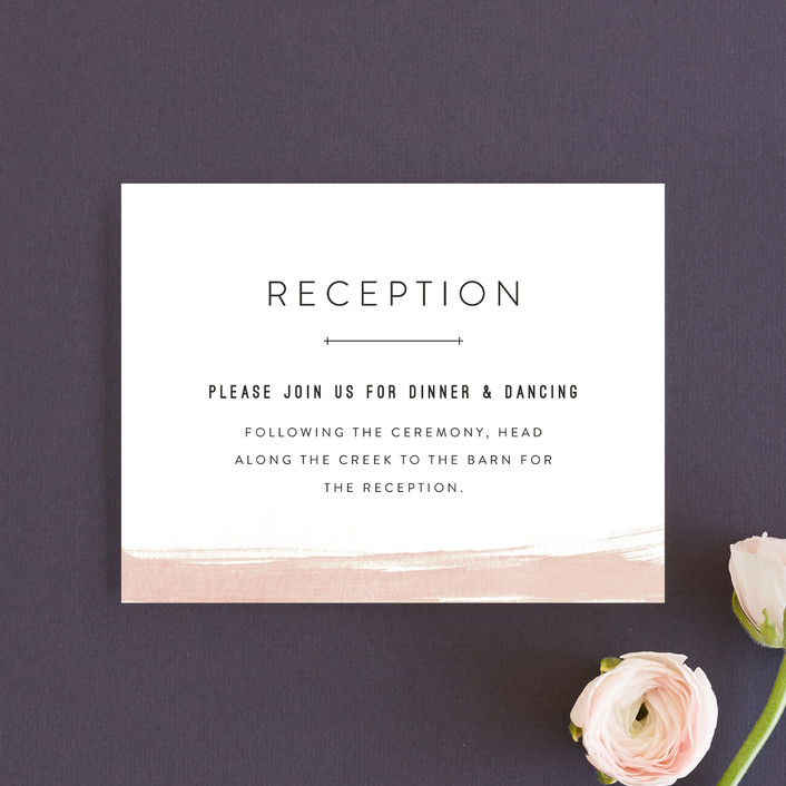 """Painted Desert"" - Reception Cards in Coral by Amy Kross."