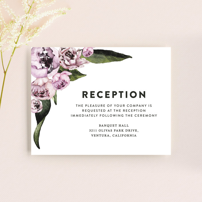 """""""Peony"""" - Reception Cards in Ice Mist by Cass Loh."""