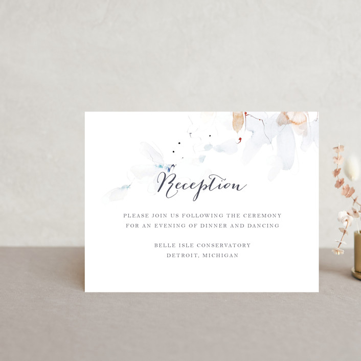 """Petale"" - Reception Cards in Blush by Kelly Ventura."