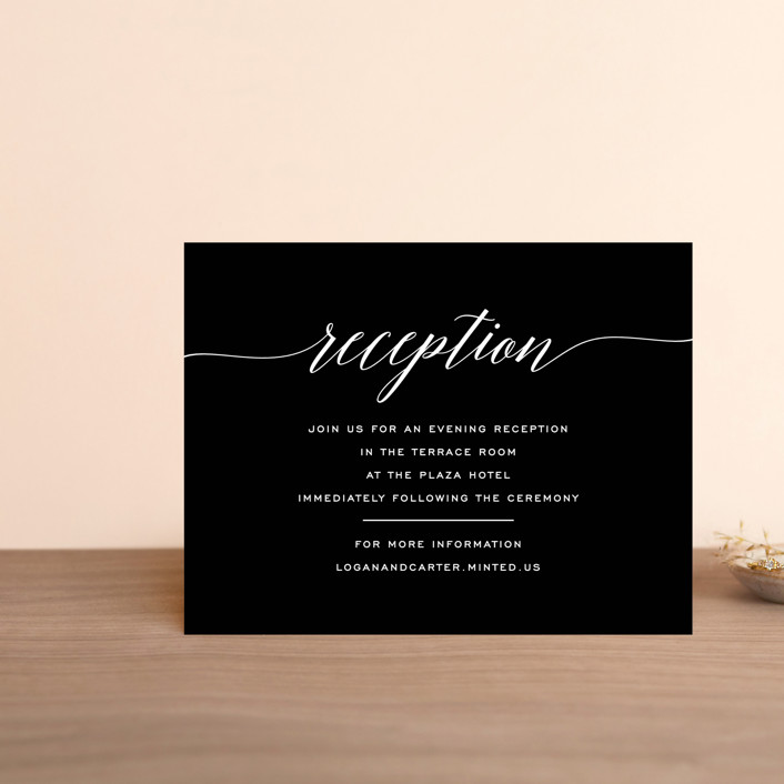 """Someone Like You"" - Reception Cards in Tuxedo by Design Lotus."