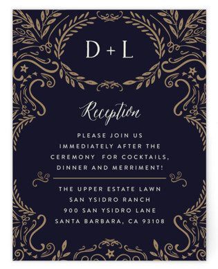 Wedding Enchantment Reception Cards