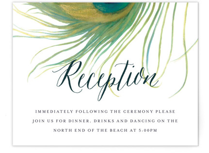Peacock Reception Cards