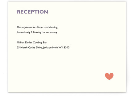 Two Brides Destination Reception Cards