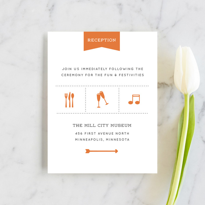 """Celebrate the Day"" - Reception Cards in Persimmon by Michelle Taylor."