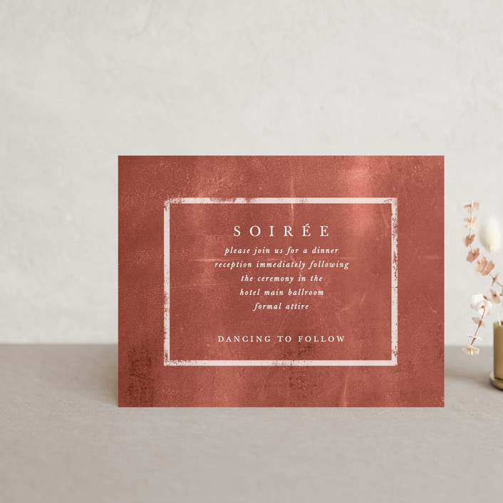 """Dust"" - Modern Reception Cards in Sienna by Carrie ONeal."