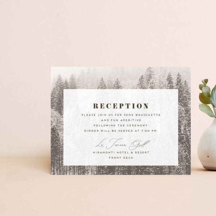 """""""torrone"""" - Rustic Reception Cards in Cedar by chocomocacino."""