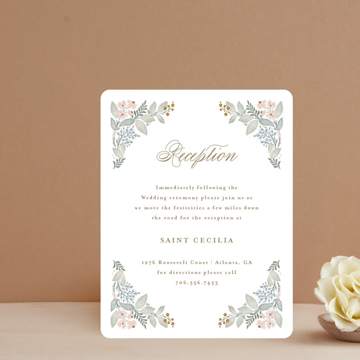 """""""Wild Flora"""" - Reception Cards in Blossom by Kristen Smith."""