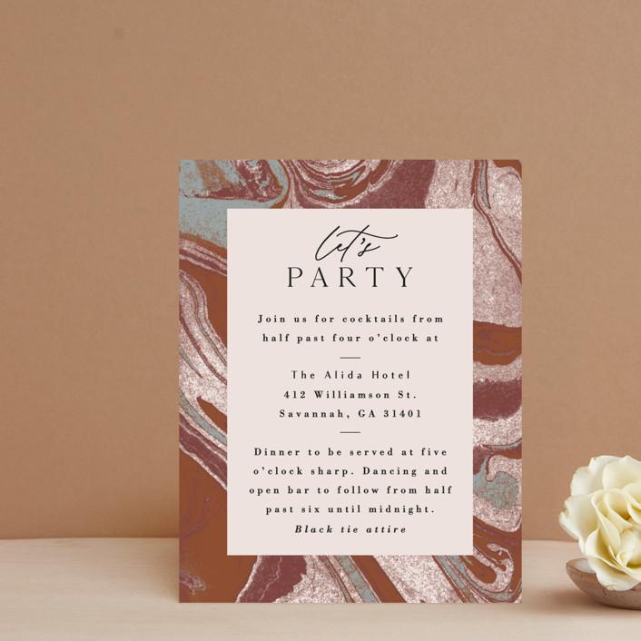 """Jasper"" - Reception Cards in Sandstone by Everett Paper Goods."