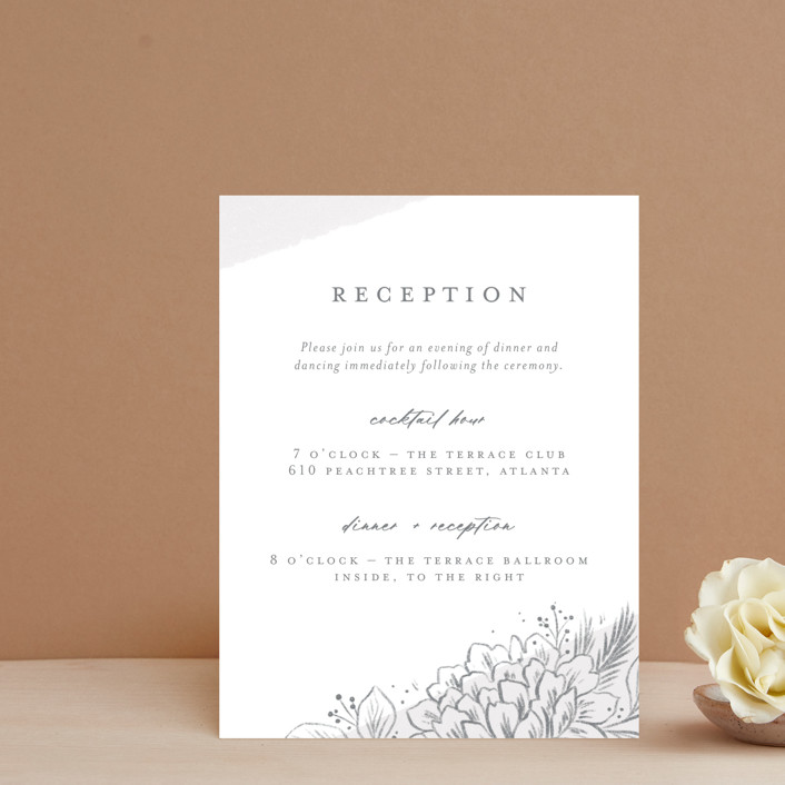 """""""Loving"""" - Reception Cards in Cloudy by Paper Raven Co.."""