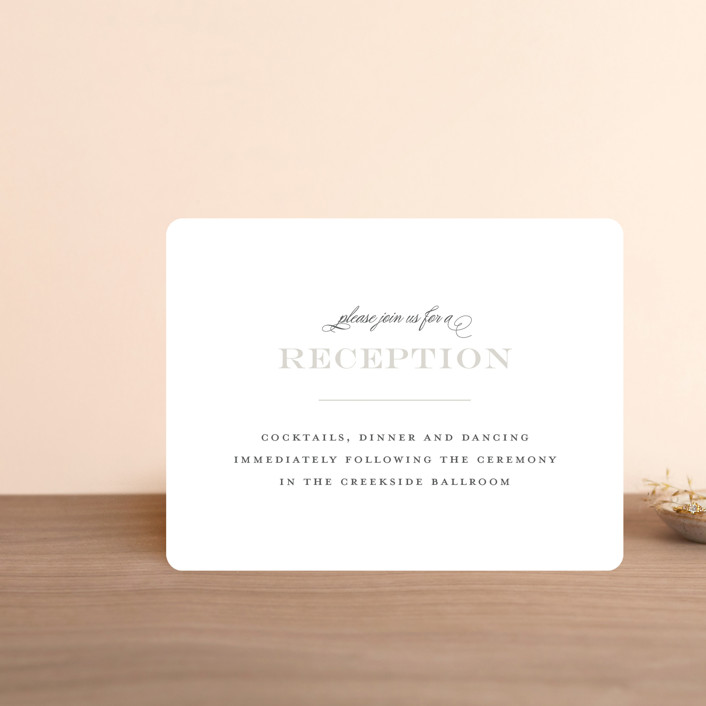 """""""Classical"""" - Reception Cards in Taupe by Jessica Williams."""