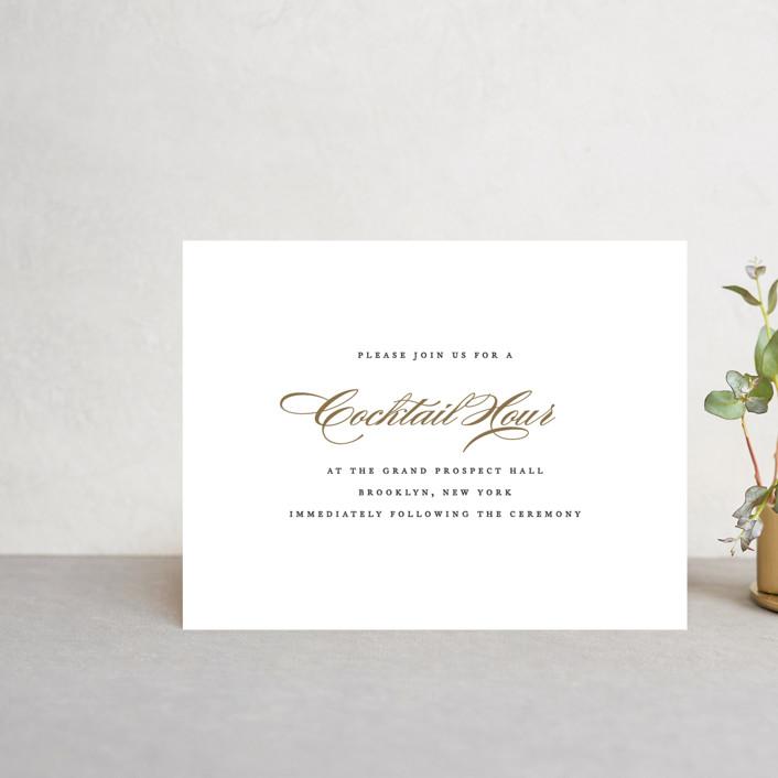 """Flourish"" - Reception Cards in Antique by Jennifer Postorino."
