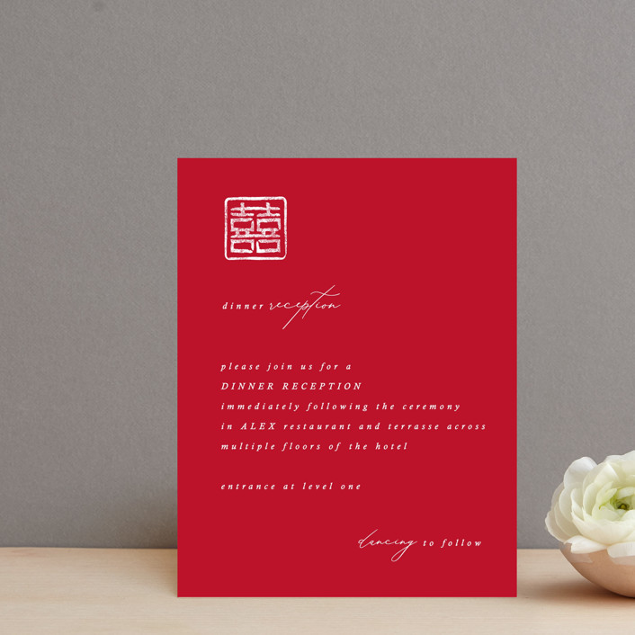 """""""Double Xi"""" - Reception Cards in Cherry by fatfatin."""