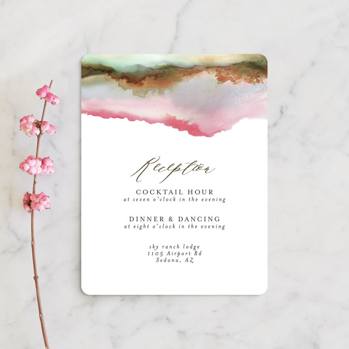 """""""Sedona"""" - Rustic, Bohemian Reception Cards in Desert Sands by Itsy Belle Studio."""