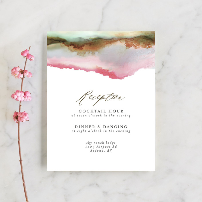 """Sedona"" - Rustic, Bohemian Reception Cards in Desert Sands by Itsy Belle Studio."