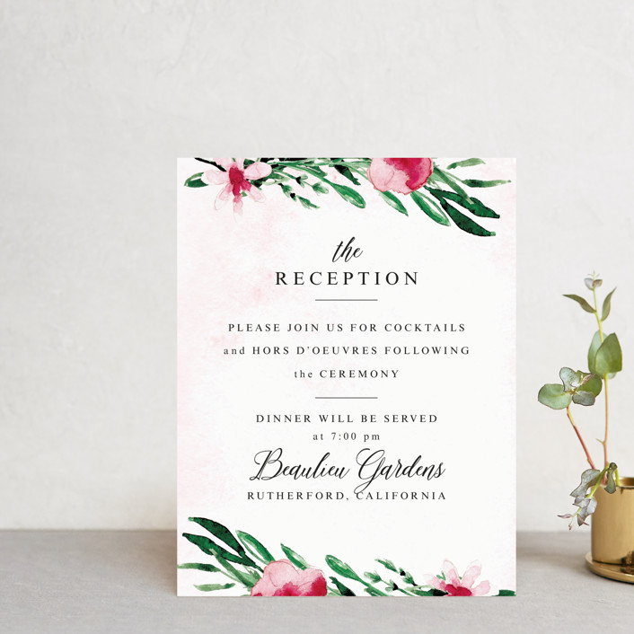 """""""Garden Party Joy"""" - Reception Cards in Blush by frances."""
