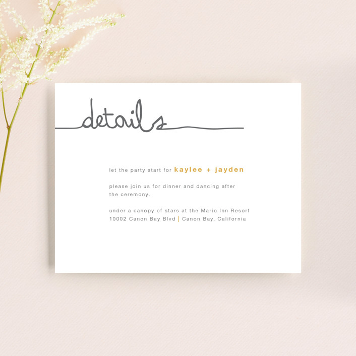"""""""The Happy Couple"""" - Modern, Simple Reception Cards in Tangerine by R studio."""