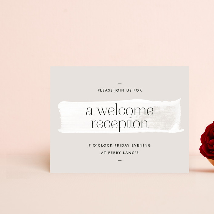 """""""Swoon"""" - Reception Cards in Cream by Lindsay Stetson Thompson."""