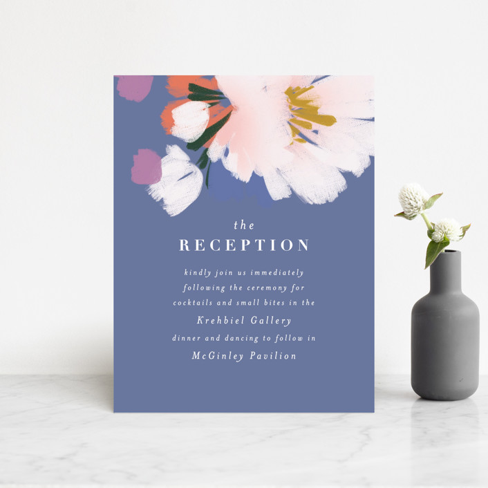 """romance in spring"" - Reception Cards in Olive by Angela Marzuki."