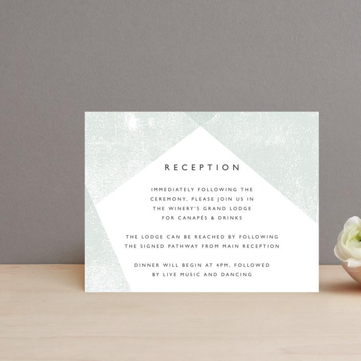 """""""Elegantly Minimal"""" - Reception Cards in Seafoam by itsjensworld."""