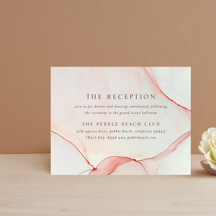 """opalescent"" - Reception Cards in Chalcedony by Erin Deegan."