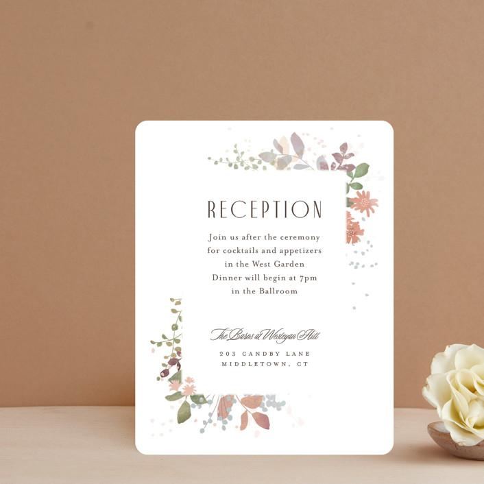 """""""Wesleyan Hill"""" - Reception Cards in Wildflower by Jennifer Wick."""
