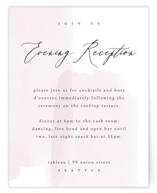This is a pink reception card by Kelly Schmidt called Painterly with standard printing on signature in standard.