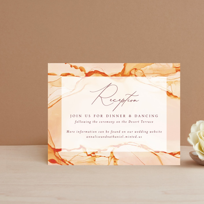"""Sandstone"" - Reception Cards in Topaz by Erin Deegan."