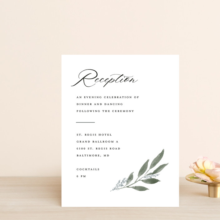 """Pressed Foliage"" - Reception Cards in Heather by Stacey Meacham."