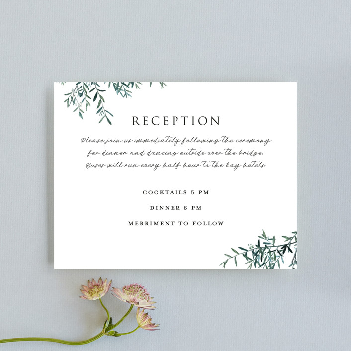 """""""Fresh Sage"""" - Rustic Reception Cards in Olive by Christie Kelly."""