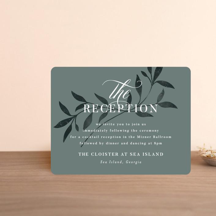 """""""Serafina"""" - Reception Cards in Sage by Melanie Kosuge."""