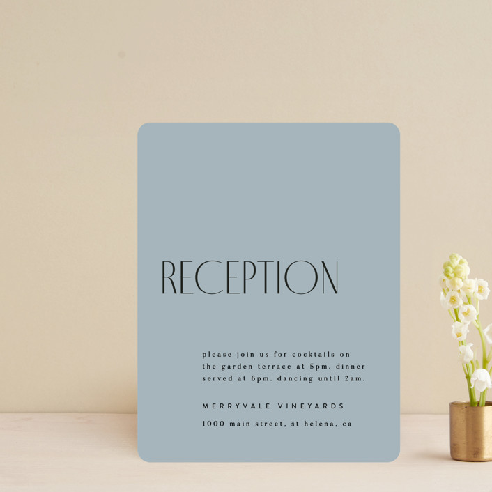 """""""Layered"""" - Reception Cards in Cloud by Kelly Schmidt."""