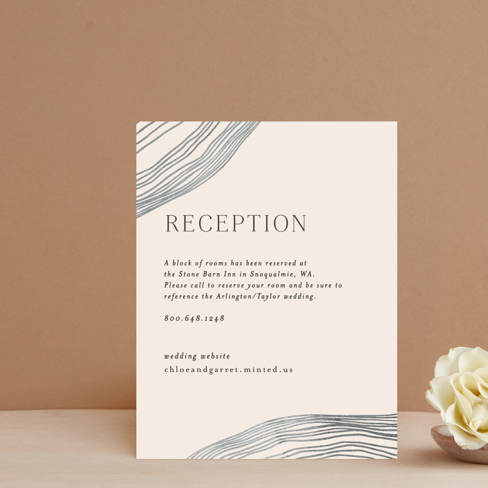 """""""Rings"""" - Modern Reception Cards in Natural by Alethea and Ruth."""