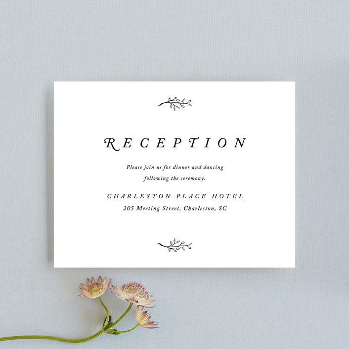 """""""Storybook Romance"""" - Reception Cards in Cotton by Stacey Meacham."""