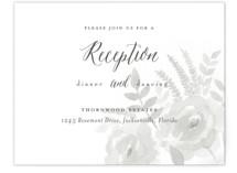 Watercolor Floral Reception Cards