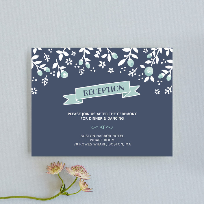 """""""Joy & Happiness"""" - Reception Cards in Navy by Sharon O.."""