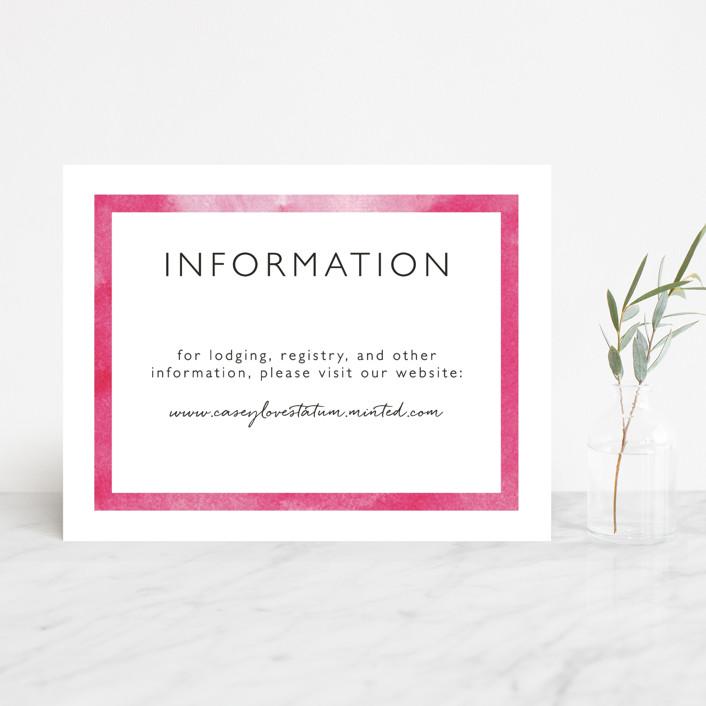 """Skyline - Washington DC"" - Modern Reception Cards in Magenta by Laura Condouris."